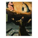 St Francis de Assisi, el milagro de los rosas Postal