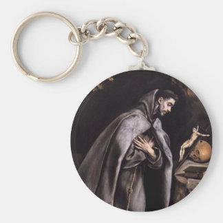 St Francis de Assisi Llavero Redondo Tipo Pin