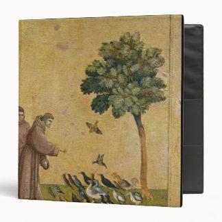 "St Francis de Assisi que predica a los pájaros Carpeta 1 1/2"""
