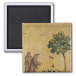 St Francis de Assisi que predica a los pájaros Imán De Frigorífico