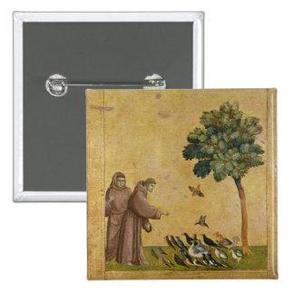 St Francis de Assisi que predica a los pájaros Pins