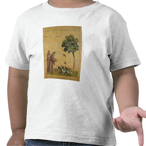 St Francis de Assisi que predica a los pájaros Camisetas
