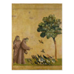 St Francis de Assisi que predica a los pájaros Postales