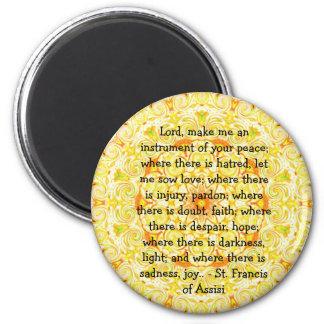 St Francis de Assisi sobre la FE Imán Redondo 5 Cm