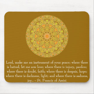 St Francis de Assisi sobre la FE Tapetes De Ratones