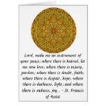 St Francis de Assisi sobre la FE Tarjeta De Felicitación