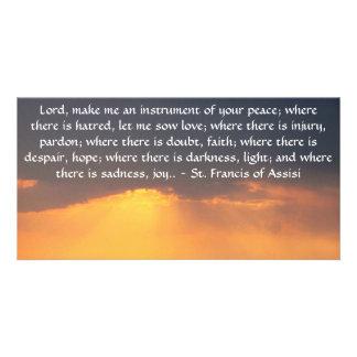 St Francis de Assisi sobre la FE Tarjeta Fotografica