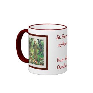 St Francis de Assisi Taza De Dos Colores