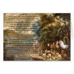 St Francis de Assisi y del puente del arco iris Tarjeta De Felicitación