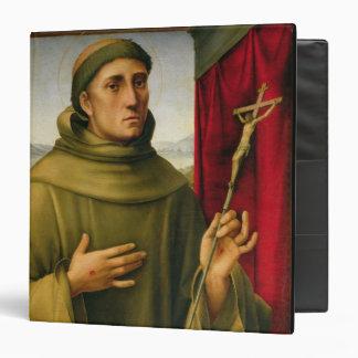 """St Francis de Assissi, c.1490 (tempera en el Carpeta 1 1/2"""""""
