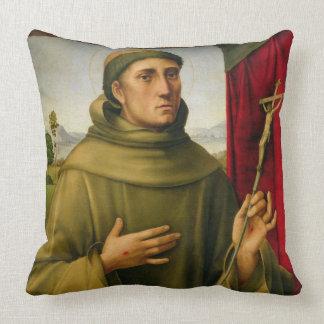 St Francis de Assissi, c.1490 (tempera en el Cojín