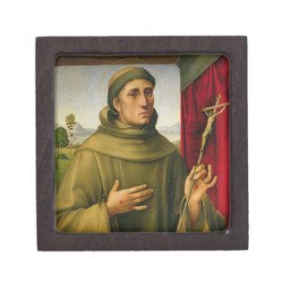 St Francis de Assissi, c.1490 (tempera en el panel Cajas De Recuerdo De Calidad