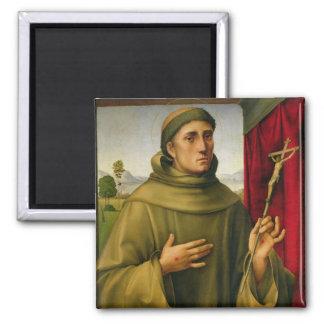 St Francis de Assissi, c.1490 (tempera en el panel Imán Cuadrado