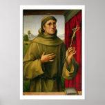 St Francis de Assissi, c.1490 (tempera en el panel Posters