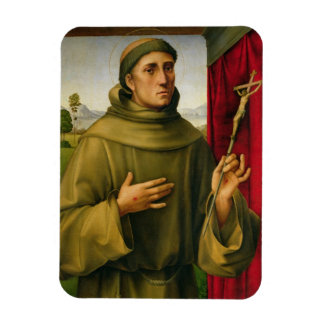 St Francis de Assissi, c.1490 (tempera en el panel Rectangle Magnet