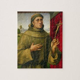 St Francis de Assissi, c.1490 (tempera en el panel Rompecabezas Con Fotos