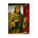 St Francis de Assissi, c.1490 (tempera en el Postal