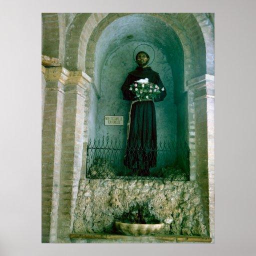 St Francis de la capilla de Assisi Póster