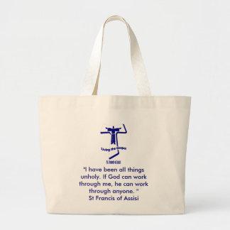 St Francis de la cita de Assisi Bolsa Tela Grande