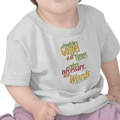 St Francis de la cita de Assisi Camiseta