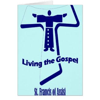 St Francis de la cita de Assisi Tarjeta De Felicitación