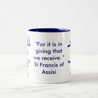 St Francis de la cita de Assisi Taza Dos Tonos