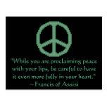 St Francis de la cita de la paz de Assisi Postales