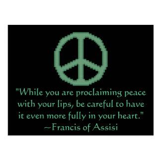 St Francis de la cita de la paz de Assisi Tarjetas Postales
