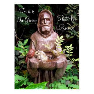 St Francis de la postal de la cita de Assisi