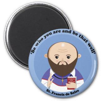 St. Francis de Sales 2 Inch Round Magnet
