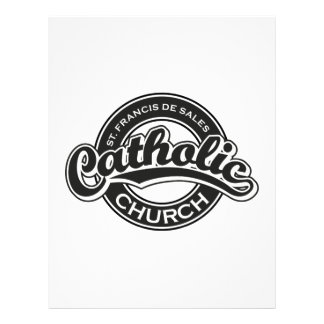 St. Francis De Sales Catholic Church Black White Letterhead