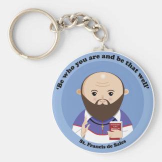 St Francis de Sales Llavero Redondo Tipo Pin