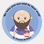 St Francis de Sales Pegatina Redonda