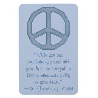 St Francis del imán de la cita de la paz de Assisi