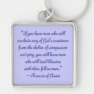 St Francis del llavero animal de la compasión de A