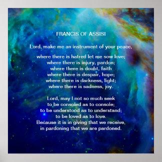 St Francis del rezo de Assisi Póster