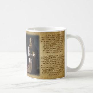 St Francis del rezo de Assisi Taza De Café