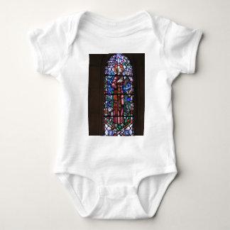 St Francis del vitral de Assisi Body Para Bebé