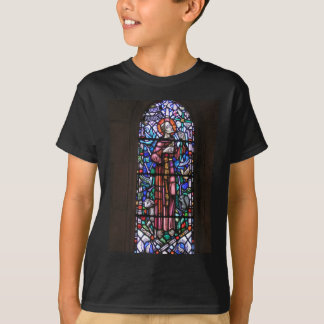 St Francis del vitral de Assisi Playera