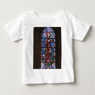 St Francis del vitral de Assisi Playera De Bebé