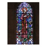 St Francis del vitral de Assisi Postal
