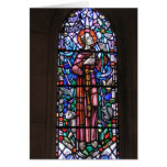 St Francis del vitral de Assisi Tarjeton