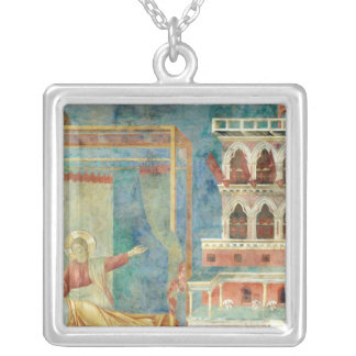 St. Francis Dreams of a Palace full of Weapons Silver Plated Necklace