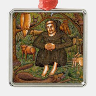 St Francis en el regalo del bosque, taza del llave Ornamentos Para Reyes Magos