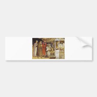 St Francis en la natividad iPhone del llavero de Pegatina De Parachoque