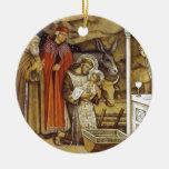 St Francis en la natividad, iPhone del llavero de Ornamento Para Arbol De Navidad