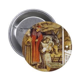 St Francis en la natividad iPhone del llavero de Pins