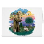 St Francis (ff) - gato Himalayan del punto del sel Felicitación