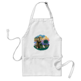 St Francis (ff) - Lilac Point Siamese cat Aprons