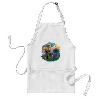 St Francis (ff) - Maine Coon cat  (brown tabby) Adult Apron